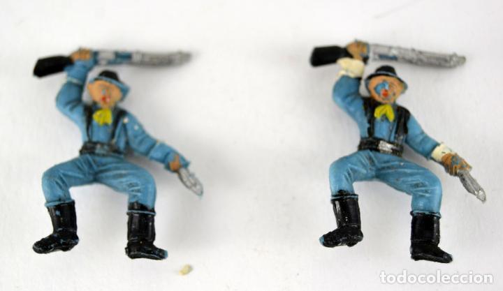 Figuras de Goma y PVC: Lote de 3 Soldados Federales / Mini Oeste Comansi - Foto 3 - 101482719