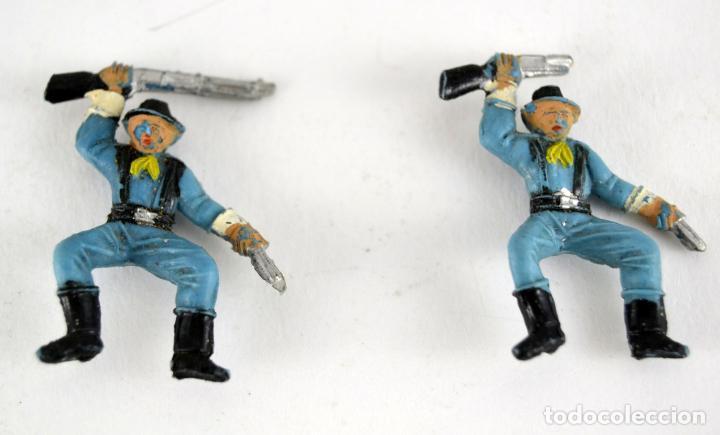 Figuras de Goma y PVC: Lote de 3 Soldados Federales / Mini Oeste Comansi - Foto 4 - 101482719