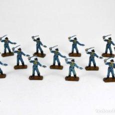 Figuras de Goma y PVC: LOTE DE 13 SOLDADOS FEDERALES / MINI OESTE COMANSI. Lote 101482795