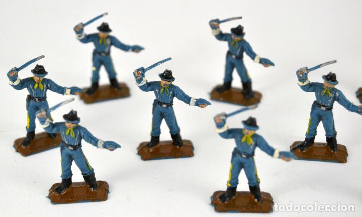 Figuras de Goma y PVC: Lote de 13 Soldados Federales / Mini Oeste Comansi - Foto 2 - 101482795