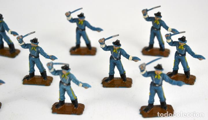 Figuras de Goma y PVC: Lote de 13 Soldados Federales / Mini Oeste Comansi - Foto 3 - 101482795