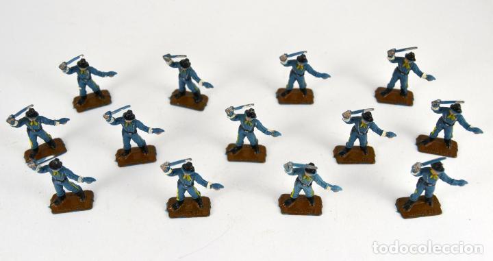 Figuras de Goma y PVC: Lote de 13 Soldados Federales / Mini Oeste Comansi - Foto 4 - 101482795