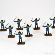 Figuras de Goma y PVC: LOTE DE 8 SOLDADOS FEDERALES / MINI OESTE COMANSI. Lote 101482887