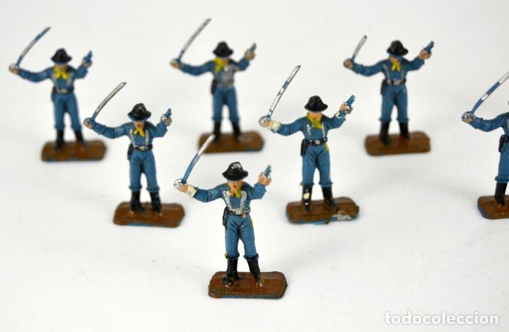Figuras de Goma y PVC: Lote de 8 Soldados Federales / Mini Oeste Comansi - Foto 2 - 101482887