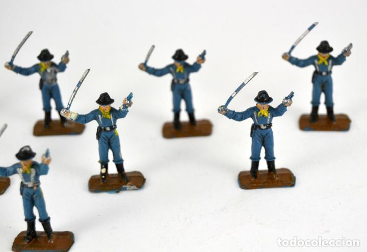 Figuras de Goma y PVC: Lote de 8 Soldados Federales / Mini Oeste Comansi - Foto 3 - 101482887