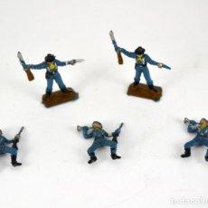 Figuras de Goma y PVC: LOTE DE 5 SOLDADOS FEDERALES / MINI OESTE COMANSI. Lote 101483267