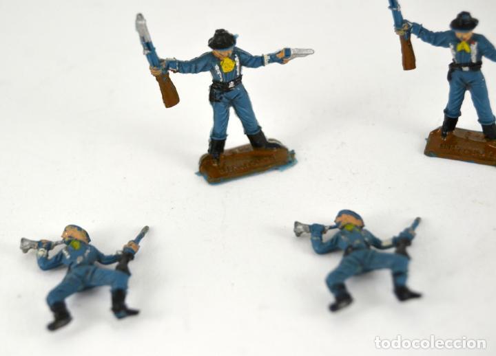 Figuras de Goma y PVC: Lote de 5 Soldados Federales / Mini Oeste Comansi - Foto 2 - 101483267