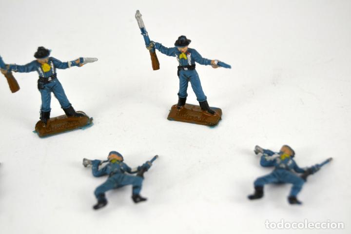 Figuras de Goma y PVC: Lote de 5 Soldados Federales / Mini Oeste Comansi - Foto 3 - 101483267