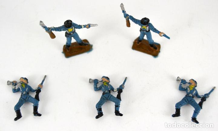 Figuras de Goma y PVC: Lote de 5 Soldados Federales / Mini Oeste Comansi - Foto 4 - 101483267