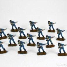 Figuras de Goma y PVC: LOTE DE 16 SOLDADOS FEDERALES / MINI OESTE COMANSI. Lote 101483427
