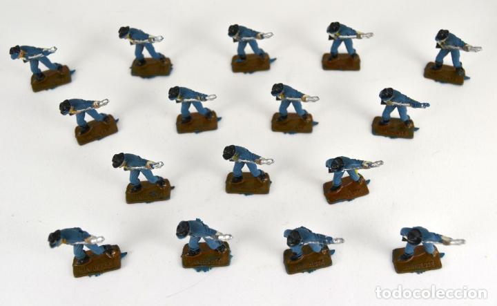 Figuras de Goma y PVC: Lote de 16 Soldados Federales / Mini Oeste Comansi - Foto 4 - 101483427
