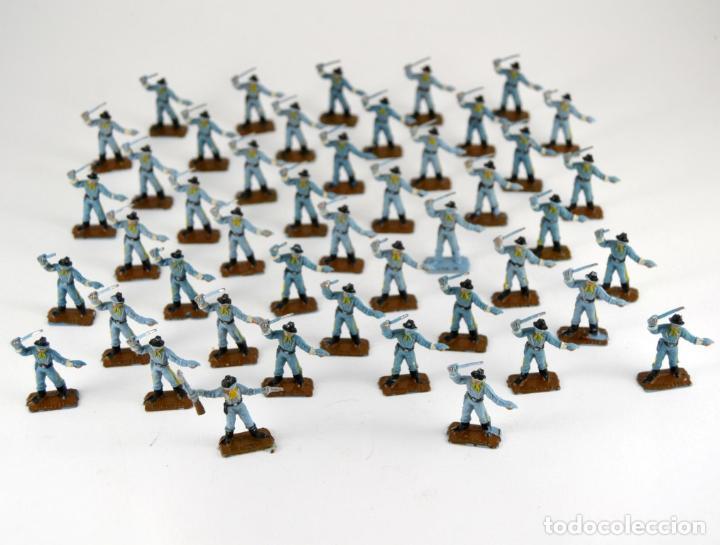 GRAN LOTE DE 46 SOLDADOS FEDERALES / MINI OESTE COMANSI (Juguetes - Figuras de Goma y Pvc - Comansi y Novolinea)
