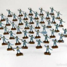 Figuras de Goma y PVC: GRAN LOTE DE 46 SOLDADOS FEDERALES / MINI OESTE COMANSI. Lote 101483579