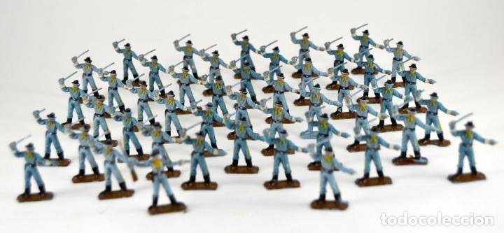 Figuras de Goma y PVC: Gran Lote de 46 Soldados Federales / Mini Oeste Comansi - Foto 2 - 101483579