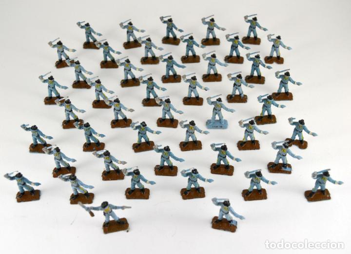 Figuras de Goma y PVC: Gran Lote de 46 Soldados Federales / Mini Oeste Comansi - Foto 3 - 101483579