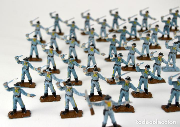 Figuras de Goma y PVC: Gran Lote de 46 Soldados Federales / Mini Oeste Comansi - Foto 4 - 101483579