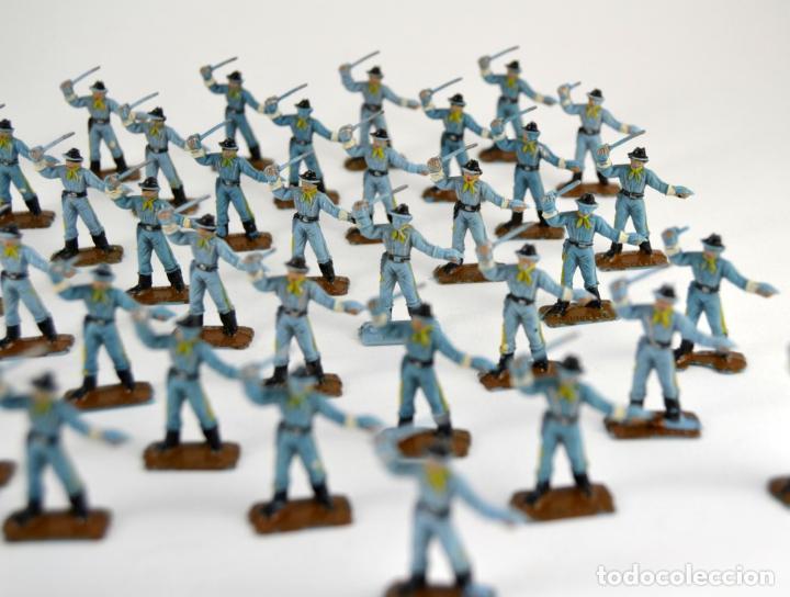Figuras de Goma y PVC: Gran Lote de 46 Soldados Federales / Mini Oeste Comansi - Foto 5 - 101483579