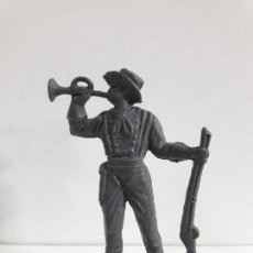 Figuras de Goma y PVC: SOLDADO FEDERAL . REALIZADO POR OLIVER . EN PLASTICO MONOCOLOR. Lote 101543539