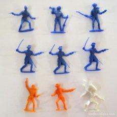 Figuras de Goma y PVC: LOTE DE 9 PIEZAS COMANSI / SOLDADOS INDIO VAQUEROS. Lote 101638959