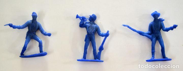 Figuras de Goma y PVC: Lote de 9 piezas Comansi / Soldados Indio Vaqueros - Foto 2 - 101638959