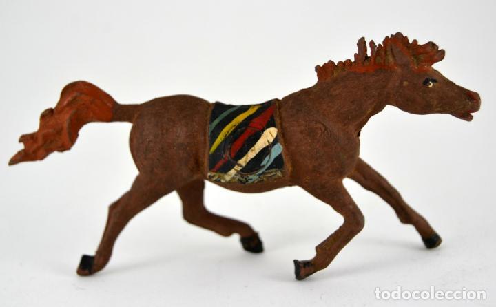 Figuras de Goma y PVC: Lote de 9 piezas Comansi / Soldados Indio Vaqueros - Foto 3 - 101639431