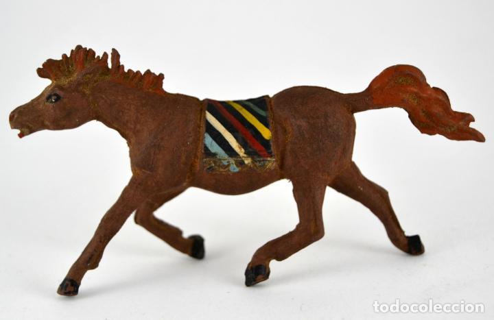Figuras de Goma y PVC: Lote de 9 piezas Comansi / Soldados Indio Vaqueros - Foto 4 - 101639431