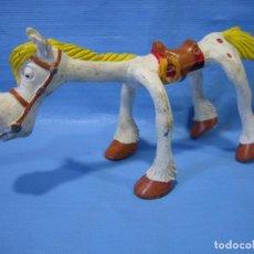 Figuras de Goma y PVC: ANTIGUA FIGURA DE GOMA CABALLO DE LUCKY LUKE. DARGUAU 1985. Lote 102049983