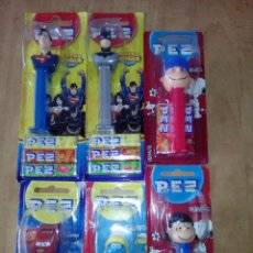 Dispensador Pez: LOTE 6 DISPENSADORES CARAMELOS PEZ,SUPERMAN,BATMAN,PITUFOS,CARS,SNOOPY. Lote 102316571