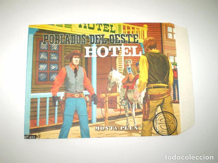 MONTAPLEX SOBRE Nº 453 POBLADOS DEL OESTE HOTEL - VACÍO A ESTRENAR - NUNCA RELLENADO (Juguetes - Figuras de Goma y Pvc - Montaplex)