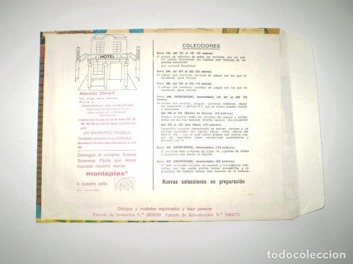 Figuras de Goma y PVC: MONTAPLEX SOBRE Nº 453 POBLADOS DEL OESTE HOTEL - VACÍO A ESTRENAR - NUNCA RELLENADO - Foto 2 - 102372011