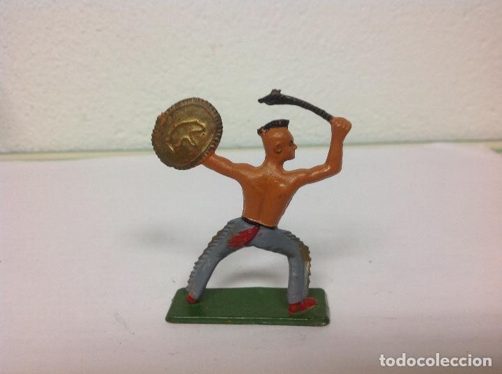 Figuras de Goma y PVC: FIGURA INDIO MOHICANO STARLUX - indio de starlux no pech reamsa jecsan comansi - Foto 2 - 102558999
