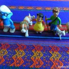 Figuras de Goma y PVC: 27 FIGURA PVC HEIDI PEDRO NIEBLA PITUFO INSPECTOR GADGET SNORKELS DAVID GNOMO WALT DISNEY POLÍTICOS. Lote 97915691
