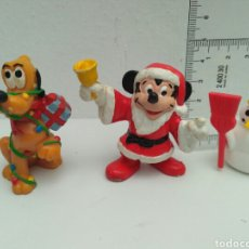 Figuras de Goma y PVC: FIGURAS DE PVC NAVIDAD MICKEY MOUSE PLUTO BULLY PAPA NOEL. Lote 102624407