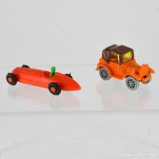 Figuras de Goma y PVC: LOTE DE 2 COCHES DUNKIN - RAROS. Lote 102626075