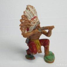 Figuras de Goma y PVC: FIGURA JEFE INDIO DE PECH. Lote 102641515