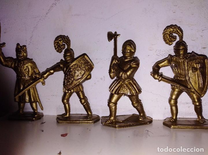 Figuras de Goma y PVC: Colección figuras pvc marcadas lone star England serie Harvey rey Arturo medieval 50mm - Foto 3 - 102691755