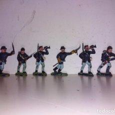 Figuras de Goma y PVC: FIGURAS PVC BRITAIN'S LONE STAR NORDISTAS AMERICANOS 45 MM. Lote 102716247