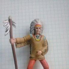 Figuras de Goma y PVC: JEFE INDIO COMANSI OESTE. Lote 102746490