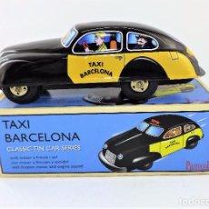 Figuras de Goma y PVC: TAXI DE BARCELONA A FRICCIÓN. Lote 103195215