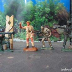 Figuras de Goma y PVC: 4 FIGURAS REAMSA PECH JECSAN SOLDADO MILITAR. Lote 103200599