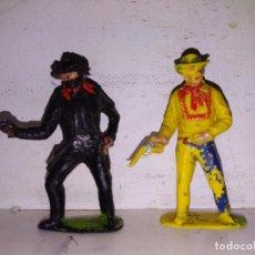 Figuras de Goma y PVC: LOTE FIGURAS OESTE INDIO Y VAQUEROS LONE E STAR BRITAIN'S ENGLAND 45 MM. Lote 103374187