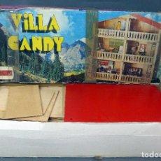 Figuras de Goma y PVC: VILLA CANDY COMANSI EL CHALET DE TOM Y CANDY REF 928 PARA CONSTRUIR CON MUÑECOS Y CAJA AÑOS 80. Lote 103493923