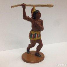 Figuras de Goma y PVC: FIGURA INDIO FABRICADA EN GOMA POR GAMA . Lote 145501944