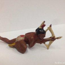 Figuras de Goma y PVC: FIGURA INDIO FABRICADA EN GOMA POR GAMA . Lote 103500315