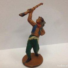 Figuras de Goma y PVC: FIGURA VAQUERO FABRICADA EN GOMA POR GAMA . Lote 103503027