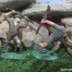 Figuras de Goma y PVC: 2 SOLDADO INGLES COMANSI DE GOMA. Lote 103519995