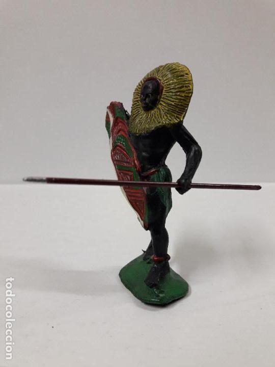 Figuras de Goma y PVC: GUERRERO AFRICANO NEGRO . REALIZADO POR ARCLA . AÑOS 50 EN GOMA - Foto 4 - 103607863