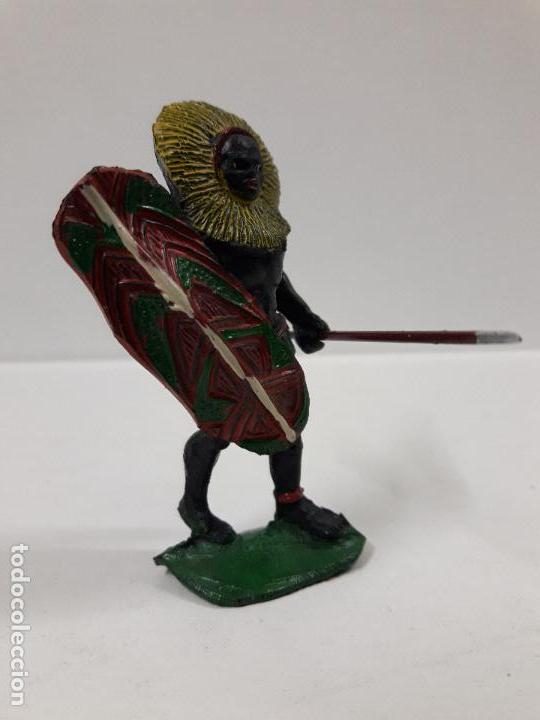 Figuras de Goma y PVC: GUERRERO AFRICANO NEGRO . REALIZADO POR ARCLA . AÑOS 50 EN GOMA - Foto 5 - 103607863
