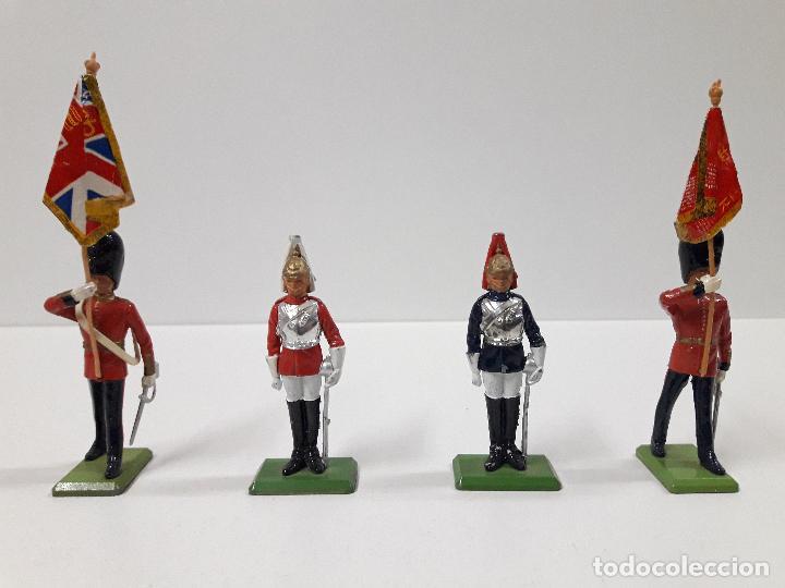 FIGURAS DEL DESFILE DE LA GUARDIA INGLESA . REALIZADAS POR BRITAINS (Juguetes - Figuras de Goma y Pvc - Britains)