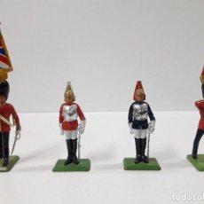 Figuras de Goma y PVC: FIGURAS DEL DESFILE DE LA GUARDIA INGLESA . REALIZADAS POR BRITAINS. Lote 103850067